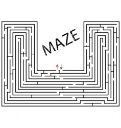 Maze against white vector