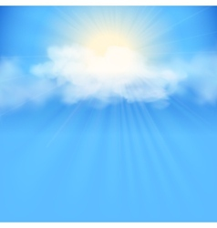 Blue sky abstract background vector image