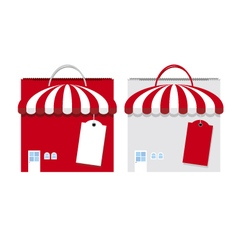 Shopping bag design on white background vector