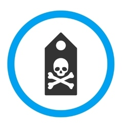 Death mark rounded icon vector
