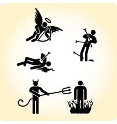 Heaven and hell vector