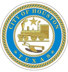 Houston city seal vector