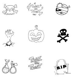 Doodle art halloween object vector