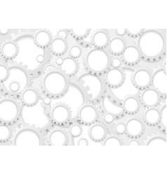 Abstract grey paper gears technology background vector