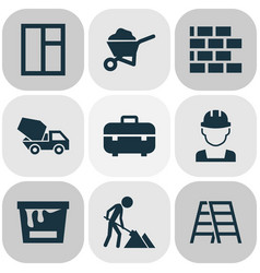 Architecture icons set collection of equipment vector