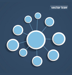 background flat design vector image vector image