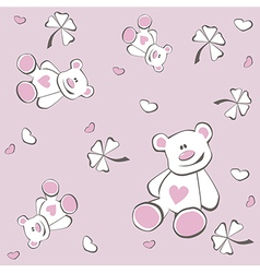 bear pattern vector image vector image