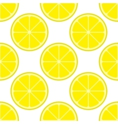 Bright lemon slices seamless pattern vector