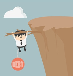 Business man with debt vector