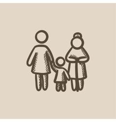 Family sketch icon vector image