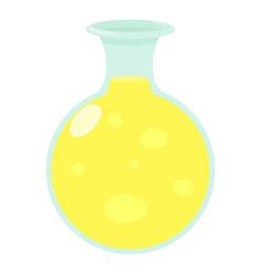 flask of luminous liquid icon cartoon style vector image