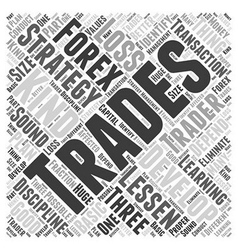 Forex trading strategies word cloud concept vector