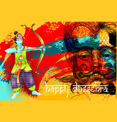 Happy dussehra poster design vector