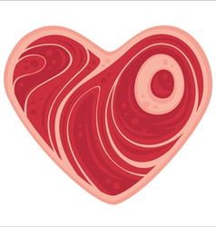Meat heart vector