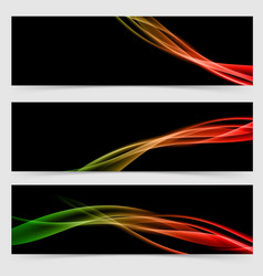 Modern abstract colored smoke lines flyer vector