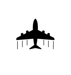 Plane icon airplane flat vector