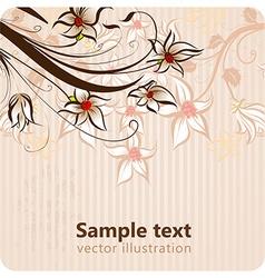 Retro floral ornament for design vector