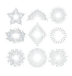 Retro sunburst radiant starburst vintage vector