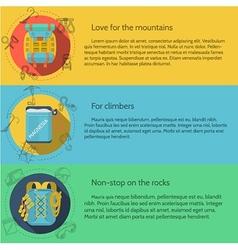 Rock climbing flat color vector