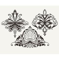 Set Of Three Original Retro Design Elements vector image vector image