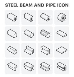 steel beam pipe vector image