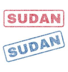 Sudan textile stamps vector