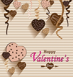 Valentines Day and Heart chocolate Party on vector image vector image