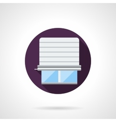 Window jalousie round flat icon vector