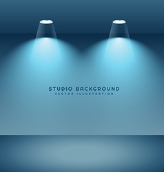 Studio background with two spot lights vector