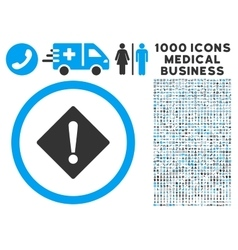 Error icon with 1000 medical business symbols vector