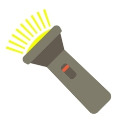 Flashlight icon flat style vector