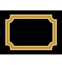 Gold frame beautiful golden black vector
