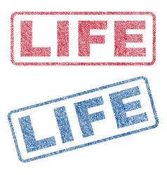Life textile stamps vector
