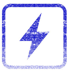 Electric strike framed textured icon vector
