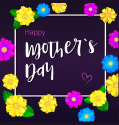 Happy mother day greeting banner with white frame vector