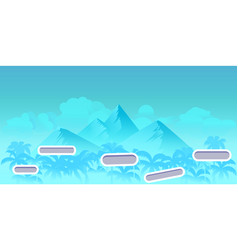 Seamless cartoon nature landscape with different vector