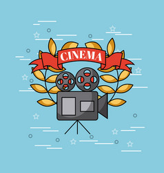 Movies and cinema concept vector