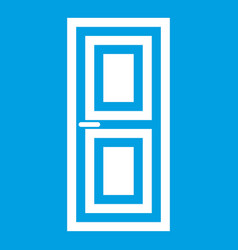 door icon white vector image