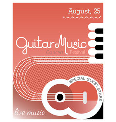 Guitar music poster template design vector