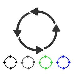 Circular route flat icon vector
