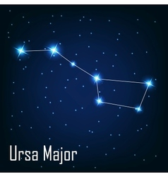 The constellation ursa major star in the night vector