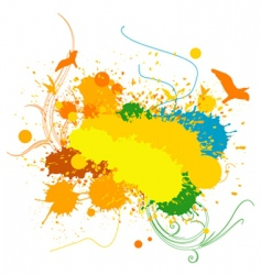 Splashing background vector