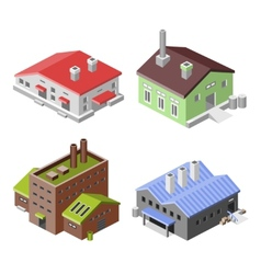 Industrial buildings isometric vector