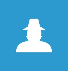 Detective icon white on the blue background vector
