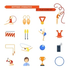 Gymnastics icon flat vector