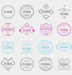 Design logo template vintage geometric badge vector
