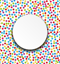 Circle Frame on Confetti Background vector image
