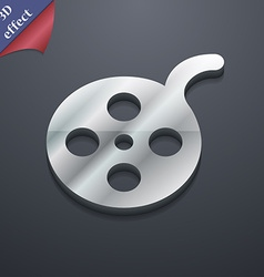 Film icon symbol 3d style trendy modern design vector