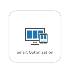 Smart optimization icon business concept flat vector