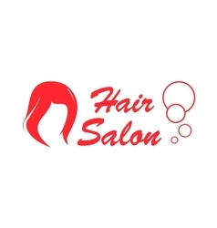 Hair salon red icon vector